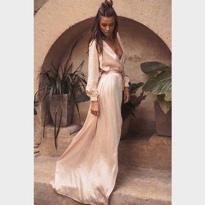 Sabo Skirt - Silky Opulent Wrap Dress | US 4